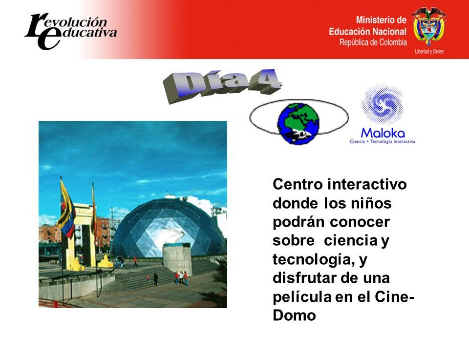 Centro interactivo donde los niños podrán conocer sobre ciencia y tecnología, y disfrutar de una película en el Cine- Domo