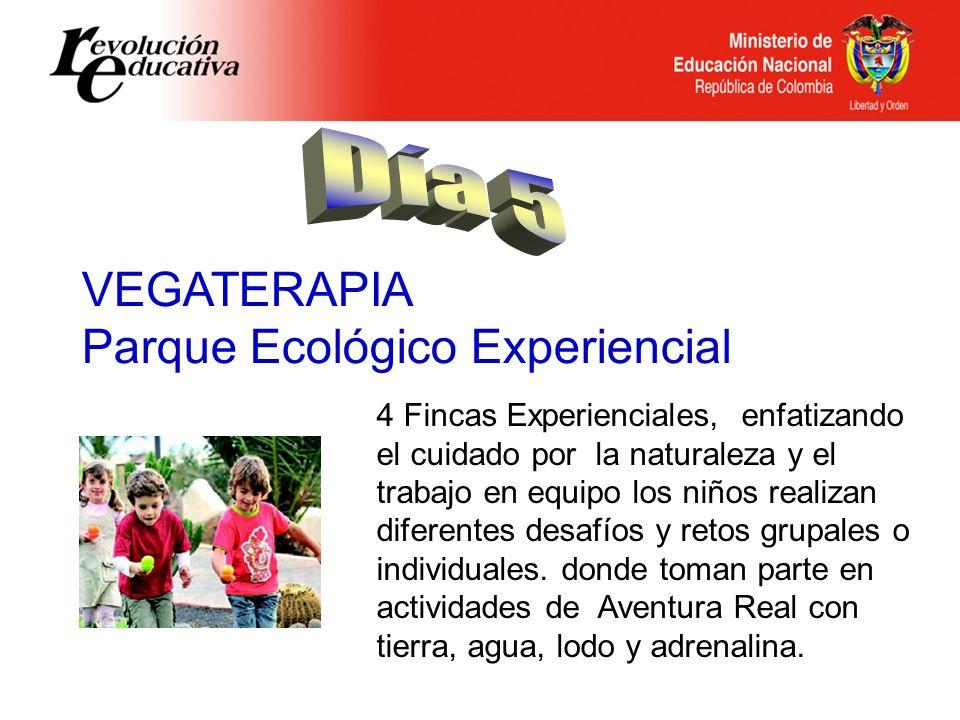 VEGATERAPIA Parque Ecológico Experiencial 4 Fincas Experienciales, enfatizando el cuidado por la naturaleza y el trabajo en equipo los niños realizan