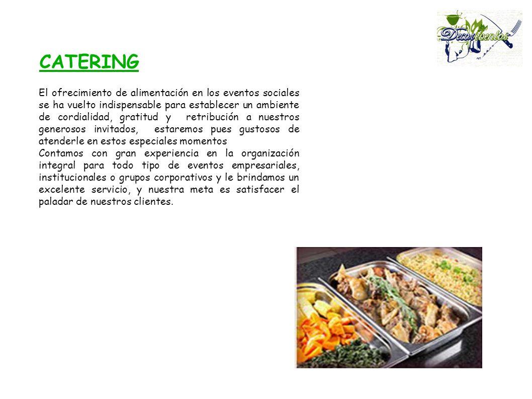 El ofrecimiento de alimentación en los eventos sociales se ha vuelto indispensable para establecer un ambiente de cordialidad, gratitud y retribución