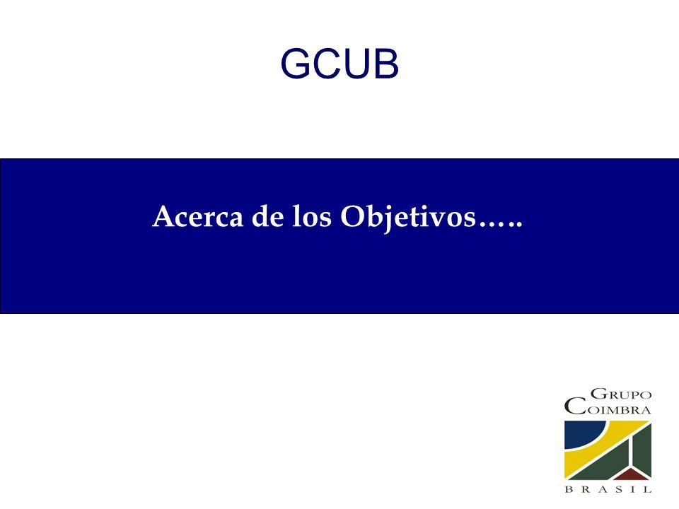 GCUB Acerca de los Objetivos…..