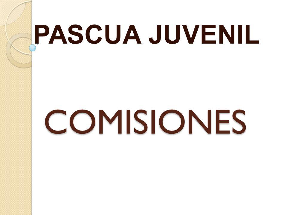 COMISIONES PASCUA JUVENIL