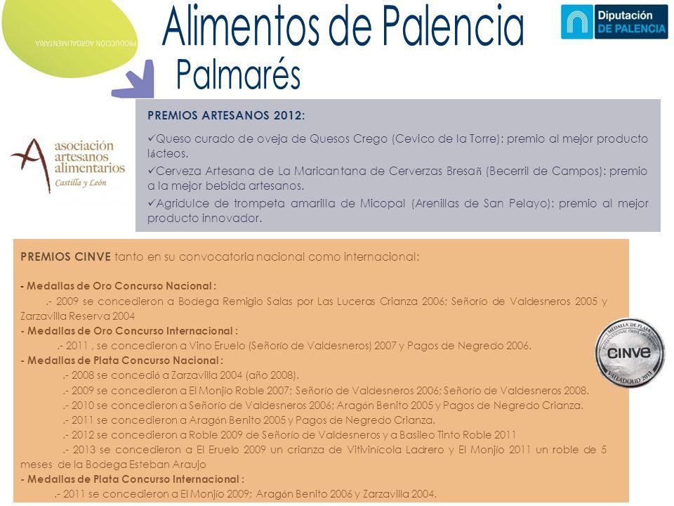 PREMIOS ARTESANOS 2012: Queso curado de oveja de Quesos Crego (Cevico de la Torre): premio al mejor producto l á cteos.