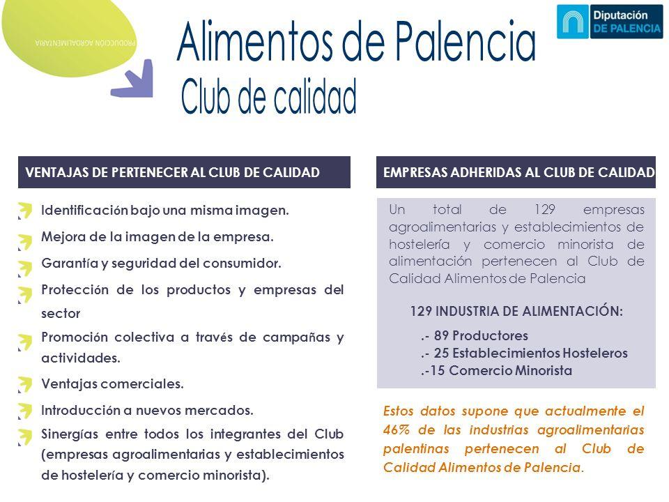 VENTAJAS DE PERTENECER AL CLUB DE CALIDAD Identificaci ó n bajo una misma imagen.