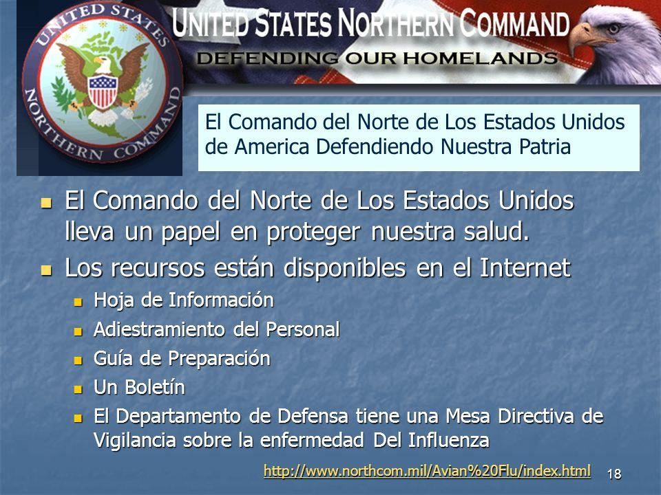 18 North America El Comando del Norte de Los Estados Unidos lleva un papel en proteger nuestra salud. El Comando del Norte de Los Estados Unidos lleva