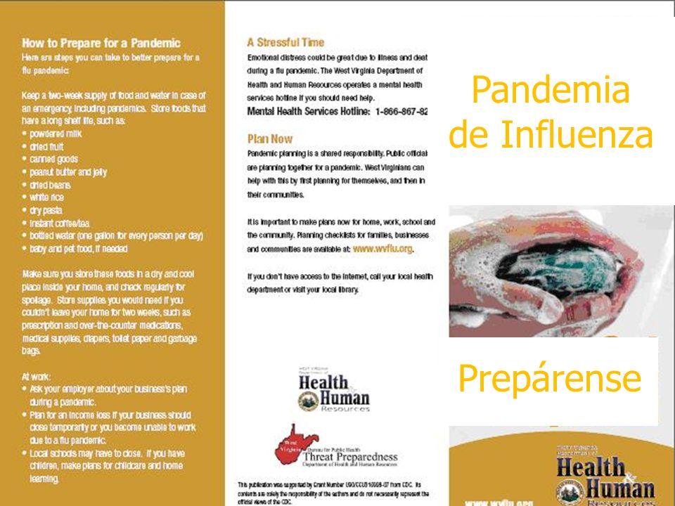 24 Pandemia de Influenza Prepárense