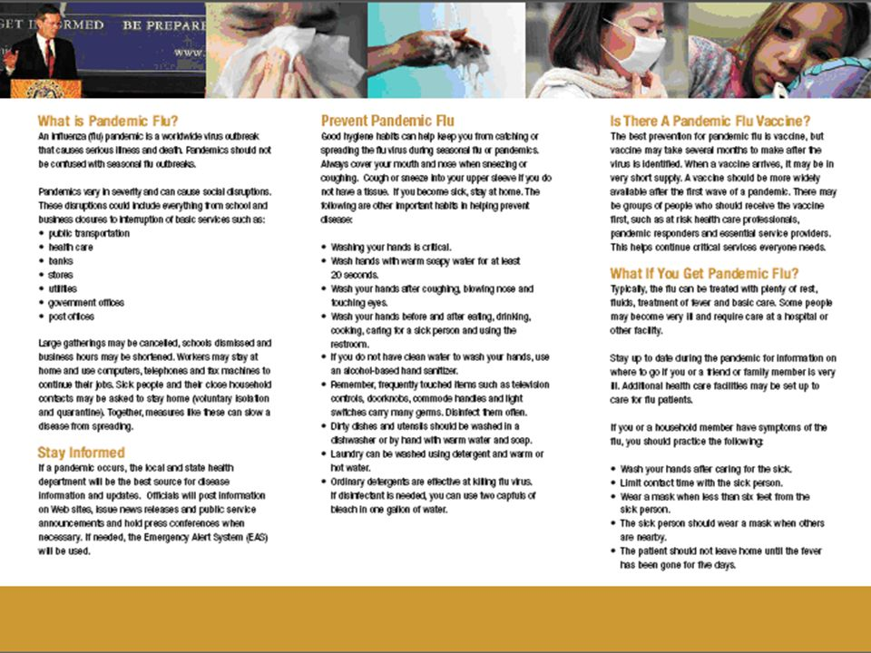 25 WV Pandemic Flu Brochure