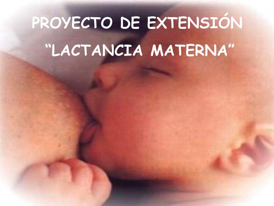 PROYECTO DE EXTENSIÓN LACTANCIA MATERNA