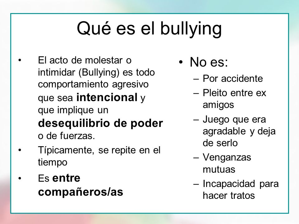 El Bullying - Lessons - Tes Teach