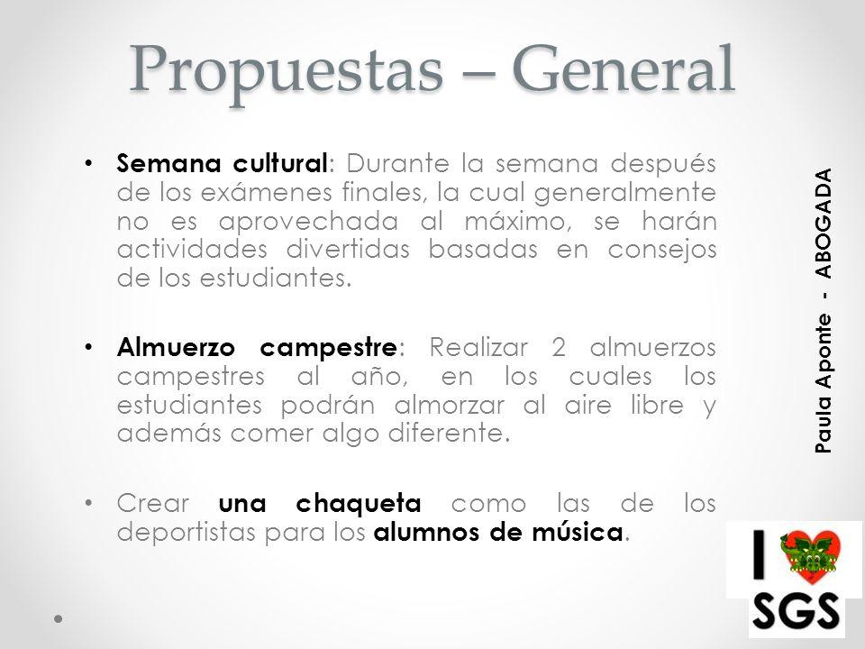 Propuestas – General Poner música en la cafetería, creando un ambiente más ameno y relajado.