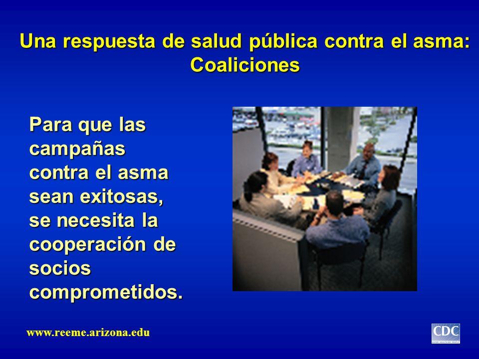 Una respuesta de salud pública contra el asma: Coaliciones Para que las campañas contra el asma sean exitosas, se necesita la cooperación de socios co