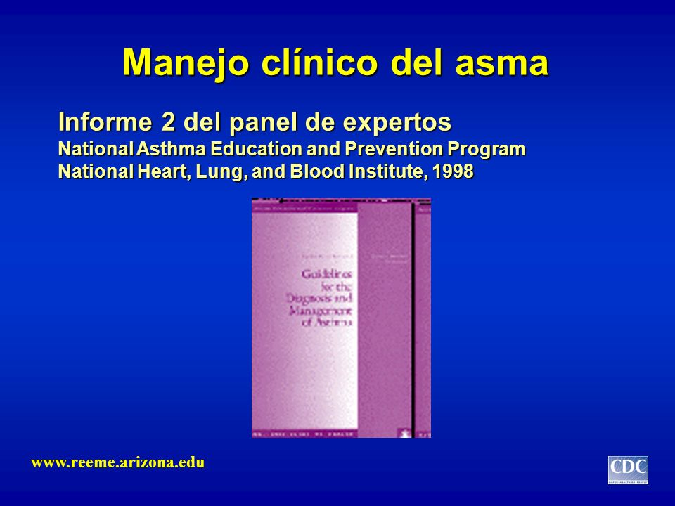 Manejo clínico del asma Informe 2 del panel de expertos National Asthma Education and Prevention Program National Heart, Lung, and Blood Institute, 19