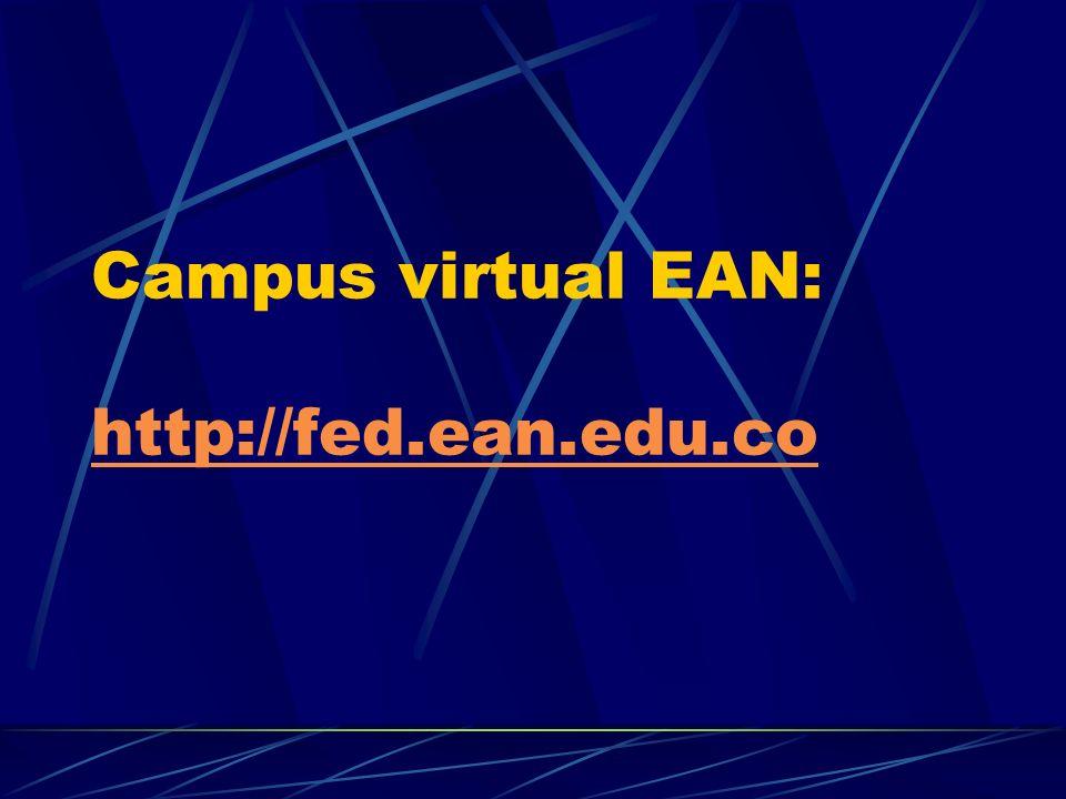 Campus virtual EAN: http://fed.ean.edu.co http://fed.ean.edu.co