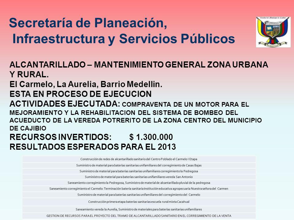 ALCANTARILLADO – MANTENIMIENTO GENERAL ZONA URBANA Y RURAL.