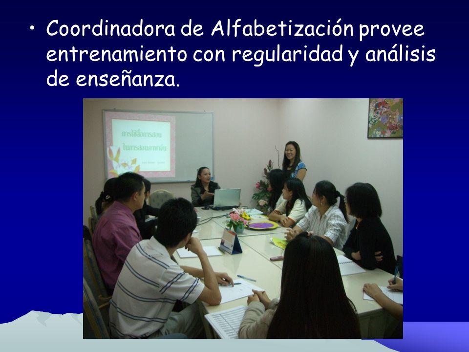 Fase 3 Cursos Intensivos Para los Maestros en Servicio para Formación de Primeros Equipos Coordinadora de Alfabetización provee un curso estructurado