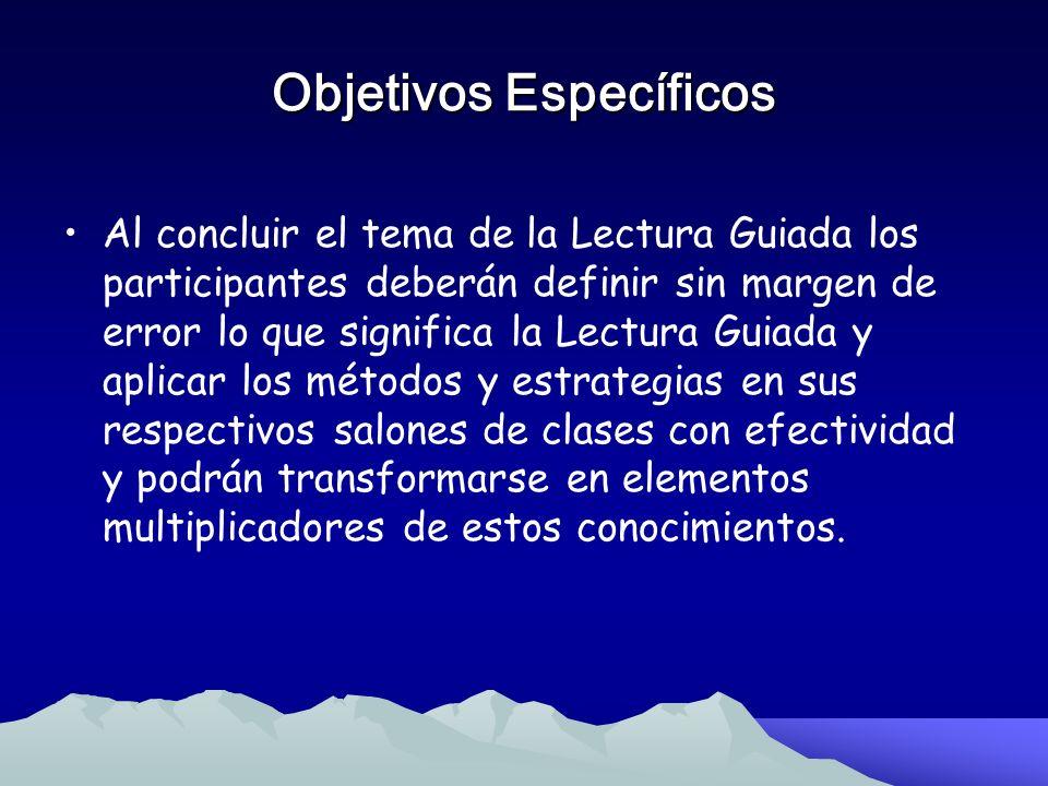 Objetivos Específicos Al concluir el tema de la Lectura Compartida los participantes estarán en capacidad de definir sin margen de error en que consis