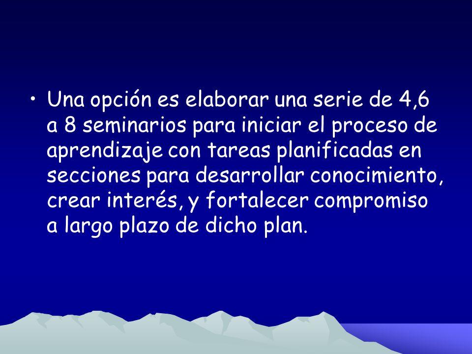Fase 1 Desarrollar Conciencia para la Planificación Un plan local es desarrollado de manera global.