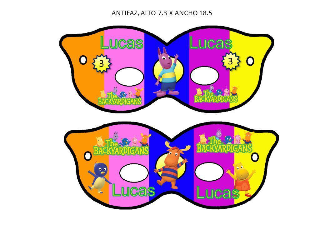 ANTIFAZ, ALTO 7.3 X ANCHO 18.5 3 3 3 3