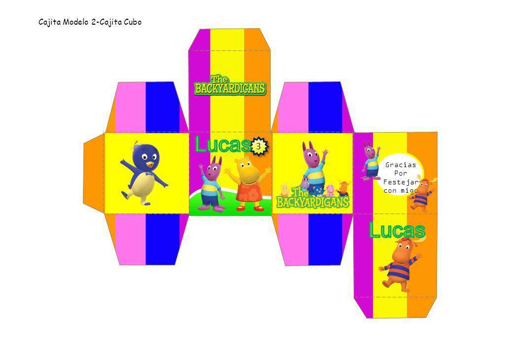 Cajita Modelo 2-Cajita Cubo Gracias Por Festejar con migo 3 3