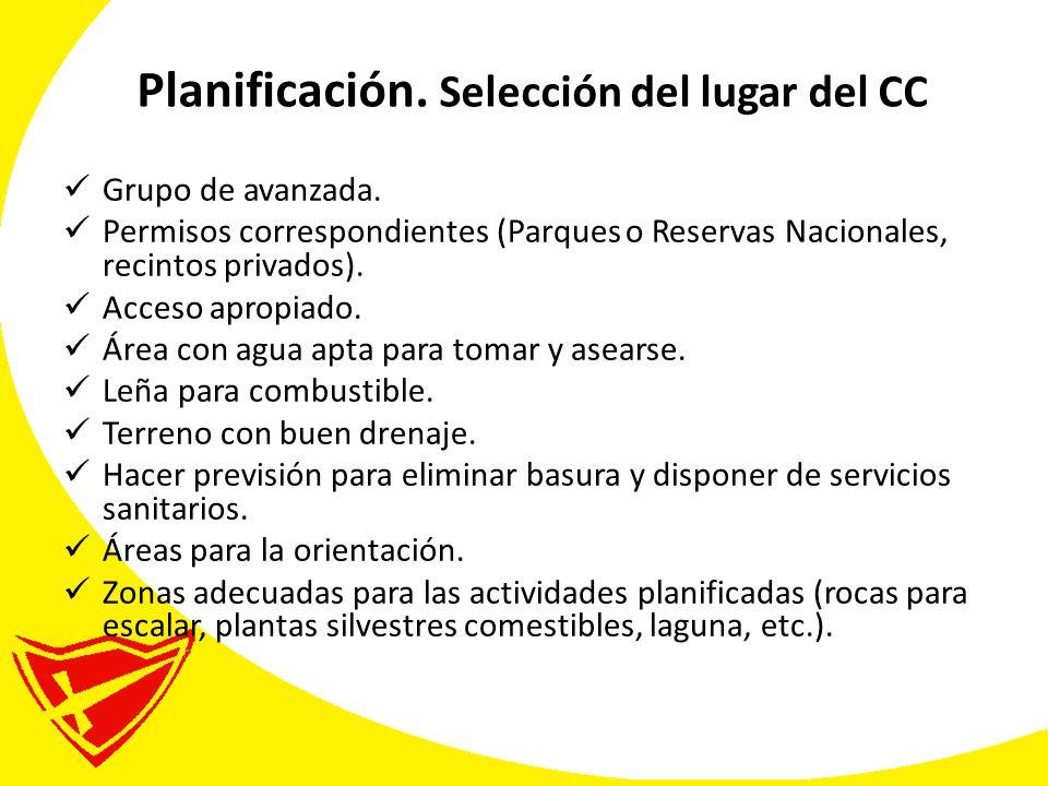 Planificación.Selección del lugar del CC Grupo de avanzada.