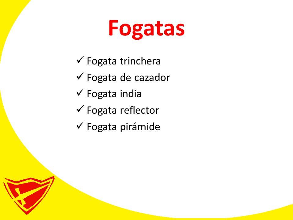 Fogatas Fogata trinchera Fogata de cazador Fogata india Fogata reflector Fogata pirámide