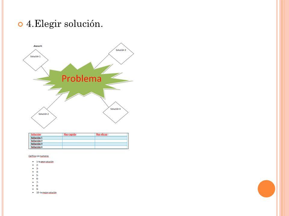 4.Elegir solución.