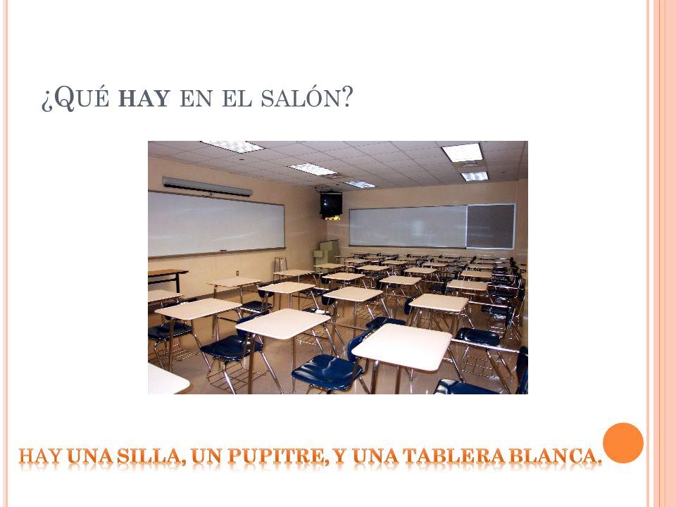 ¿Q UÉ HAY EN EL SALÓN ?