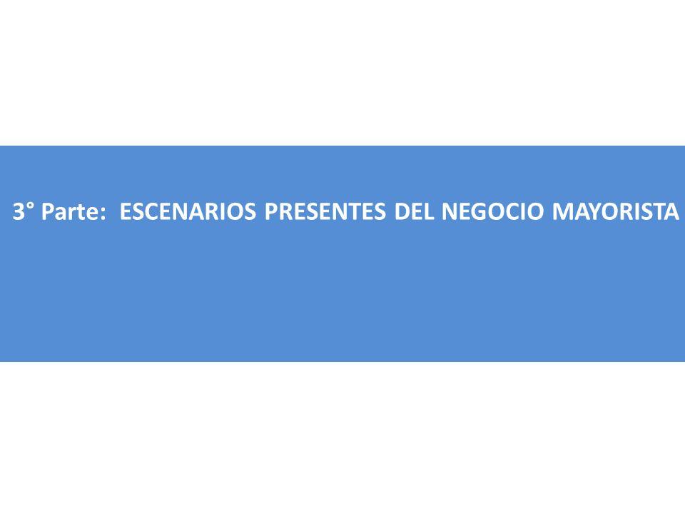 3° Parte: ESCENARIOS PRESENTES DEL NEGOCIO MAYORISTA