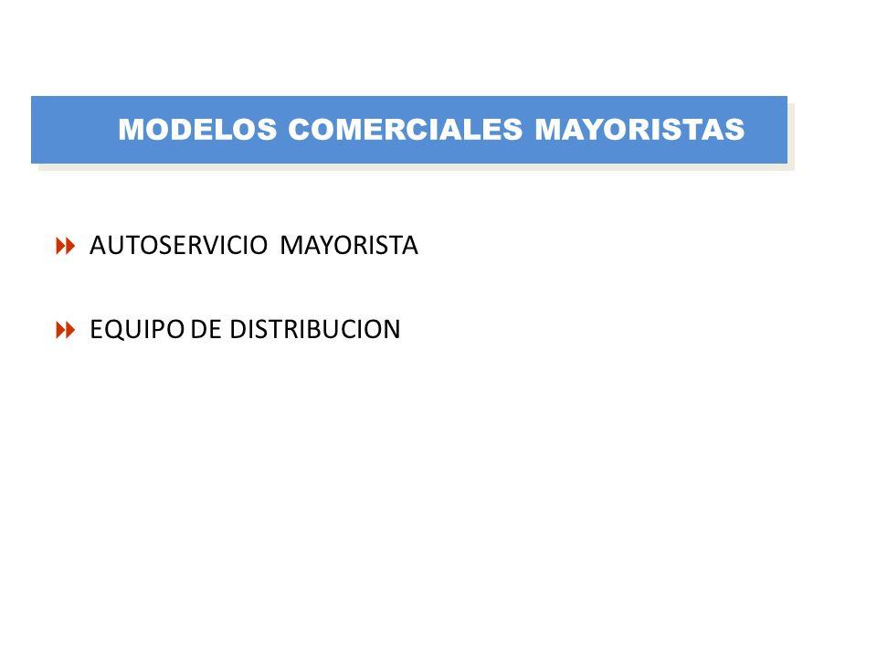 AUTOSERVICIO MAYORISTA EQUIPO DE DISTRIBUCION MODELOS COMERCIALES MAYORISTAS