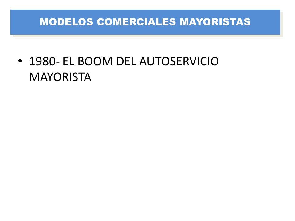 1980- EL BOOM DEL AUTOSERVICIO MAYORISTA MODELOS COMERCIALES MAYORISTAS