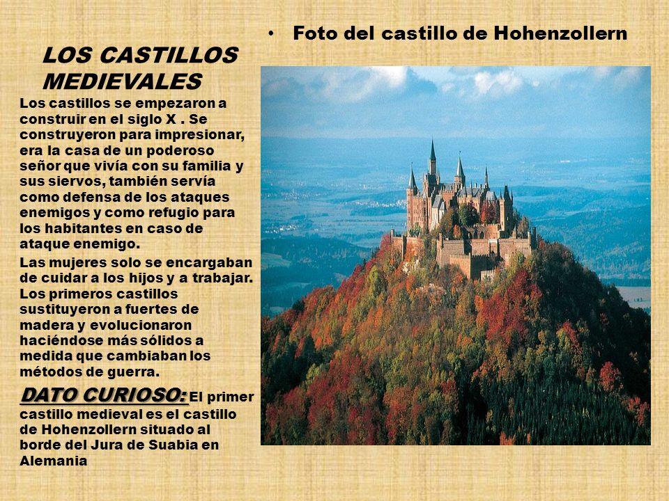 LOS CASTILLOS MEDIEVALES Foto del castillo de Hohenzollern Los castillos se empezaron a construir en el siglo X. Se construyeron para impresionar, era