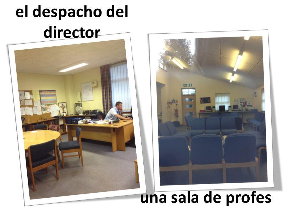 el despacho del director una sala de profes