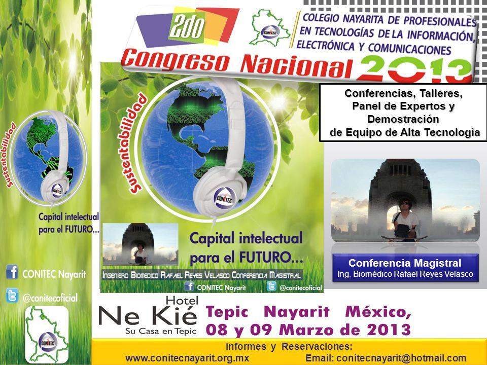 Conferencia Magistral Ing.Biomédico Rafael Reyes Velasco Conferencia Magistral Ing.