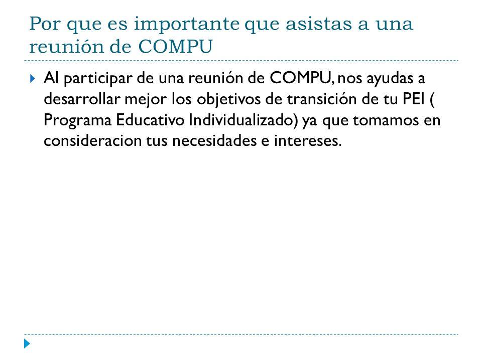 PEI Documento que describe los servicios que se te ofrecen como estudiante del programa de educacion especial.
