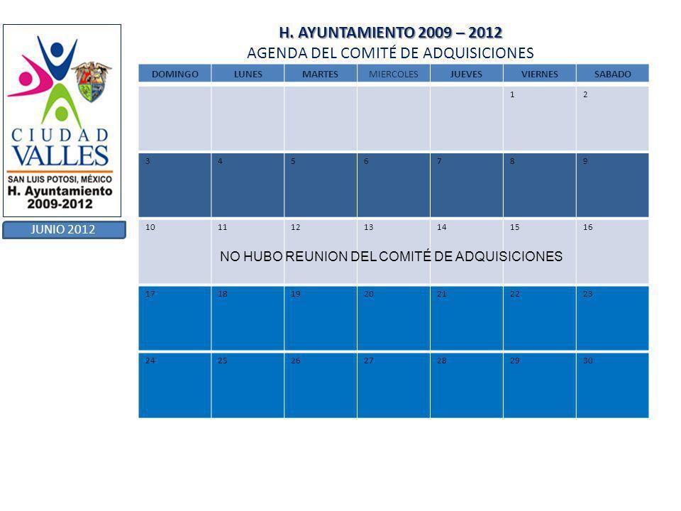 H.AYUNTAMIENTO 2009 – 2012 H.