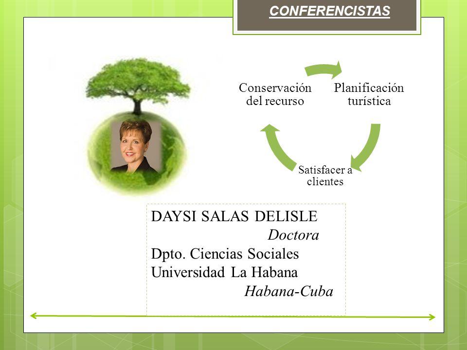 CONFERENCISTAS DAYSI SALAS DELISLE Doctora Dpto.