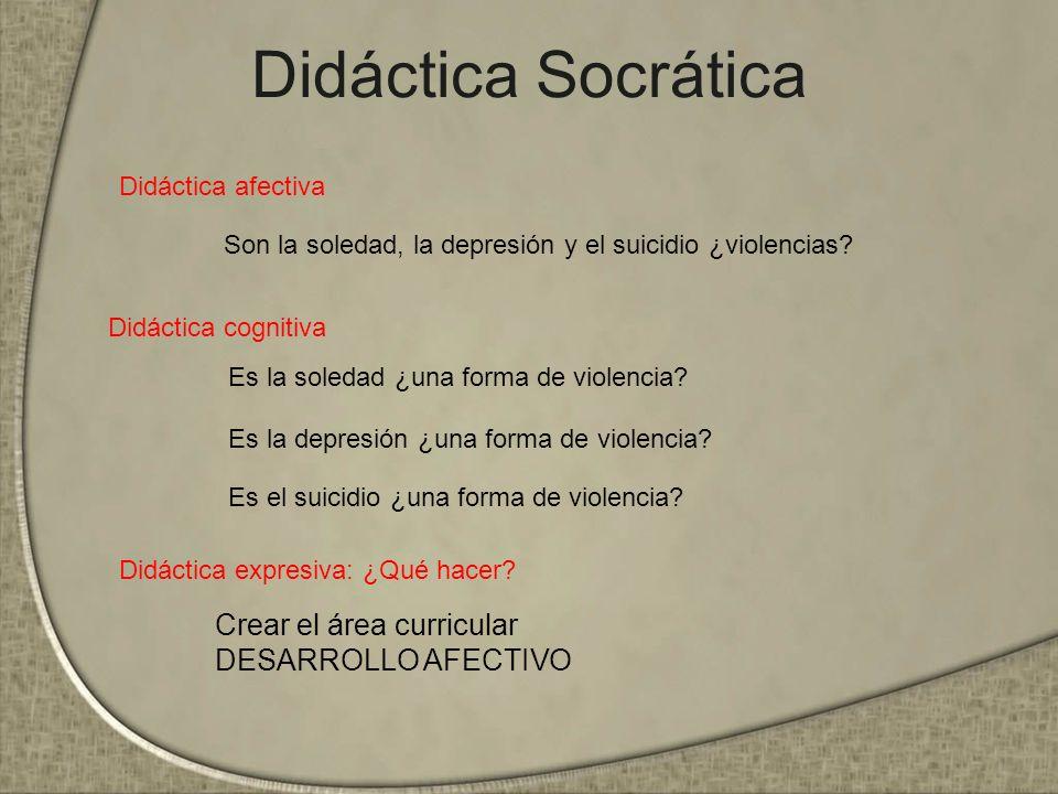 Didáctica Socrática Didáctica afectiva Didáctica cognitiva Didáctica expresiva: ¿Qué hacer.