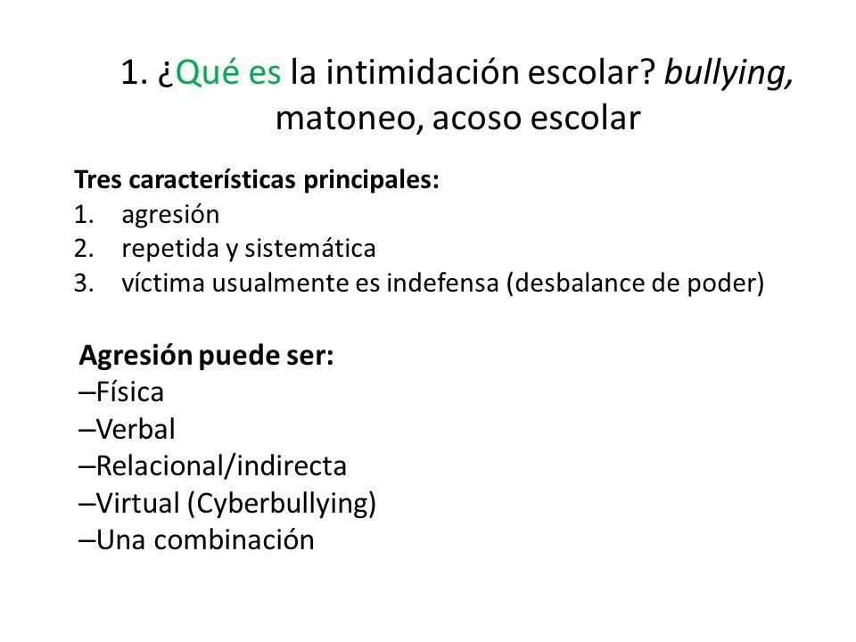 1.¿Qué es la intimidación escolar.