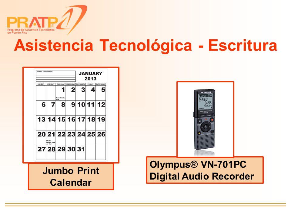 ® Asistencia Tecnológica - Escritura Jumbo Print Calendar Olympus® VN-701PC Digital Audio Recorder