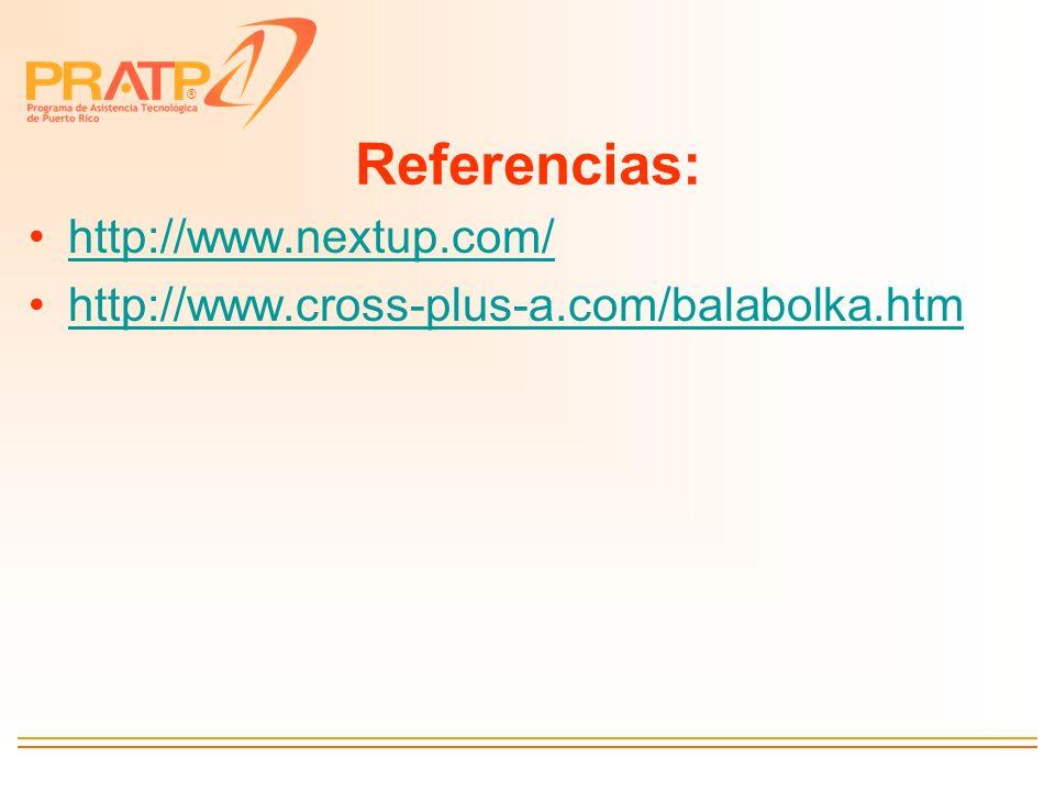 ® Referencias: http://www.nextup.com/ http://www.cross-plus-a.com/balabolka.htm