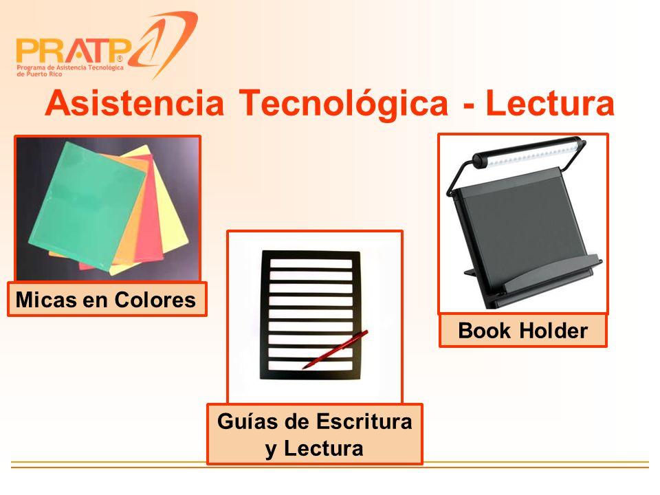 ® Asistencia Tecnológica - Lectura Micas en Colores Guías de Escritura y Lectura Book Holder