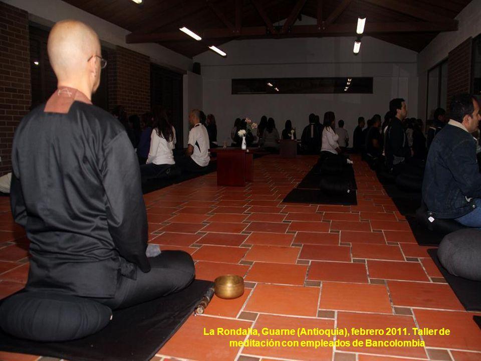 La Rondalla, Guarne (Antioquia), febrero 2011. Taller de meditación con empleados de Bancolombia