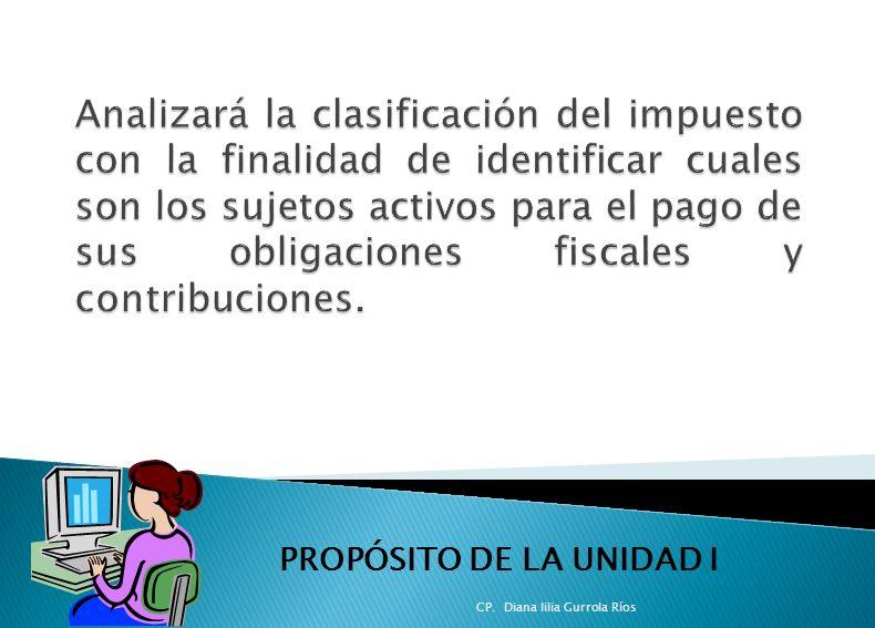 PROPÓSITO DE LA UNIDAD I CP. Diana lilia Gurrola Ríos