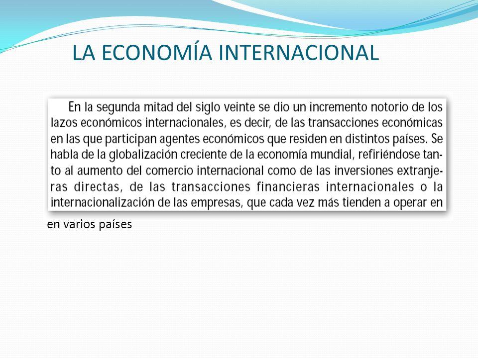 LA ECONOMÍA INTERNACIONAL en varios países