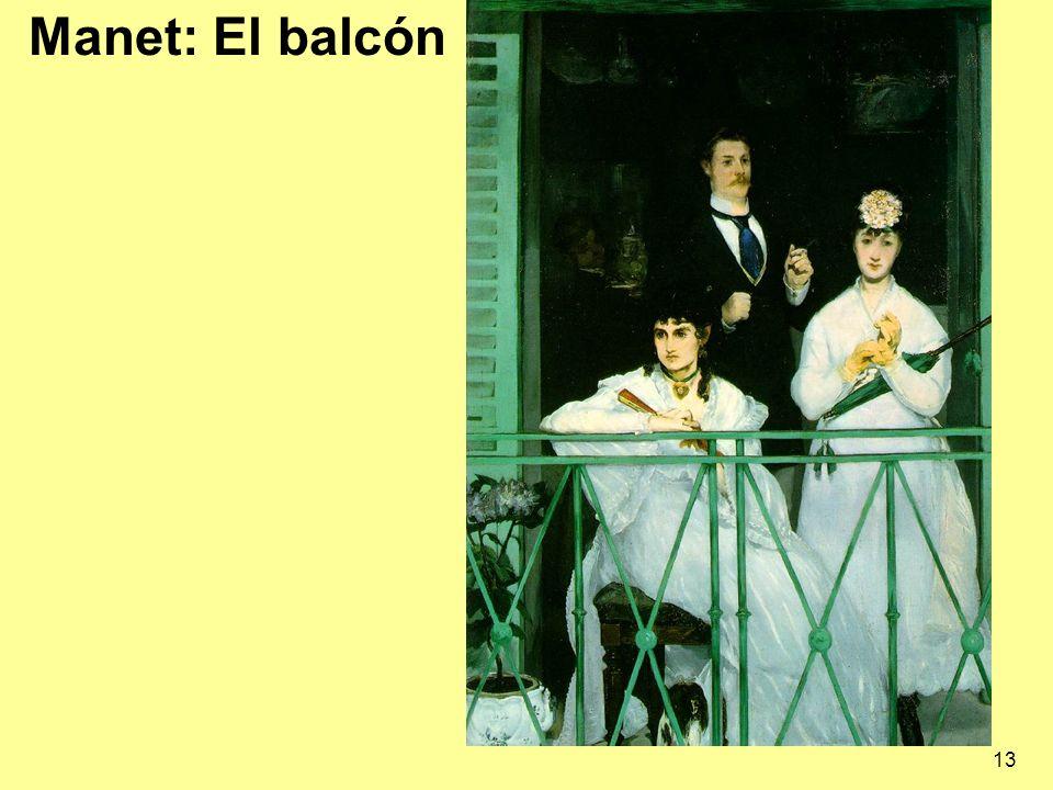 13 Manet: El balcón