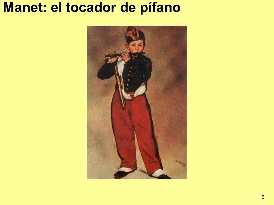 15 Manet: el tocador de pífano