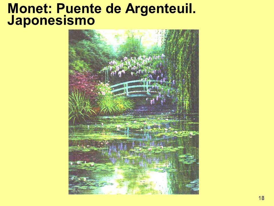 18 Monet: Puente de Argenteuil. Japonesismo