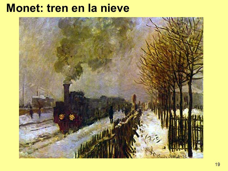 19 Monet: tren en la nieve