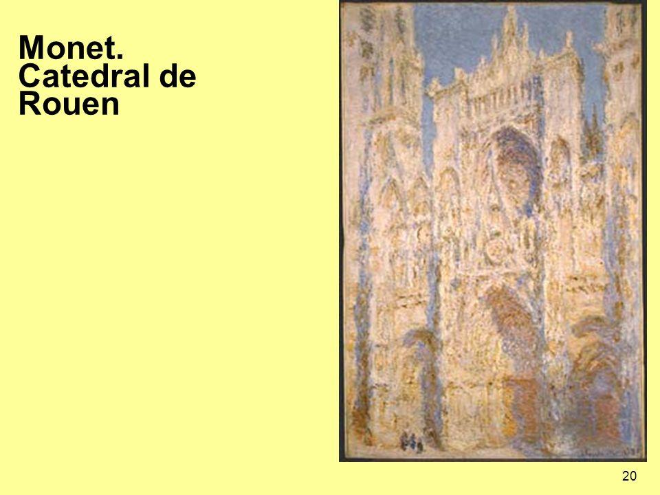 20 Monet. Catedral de Rouen