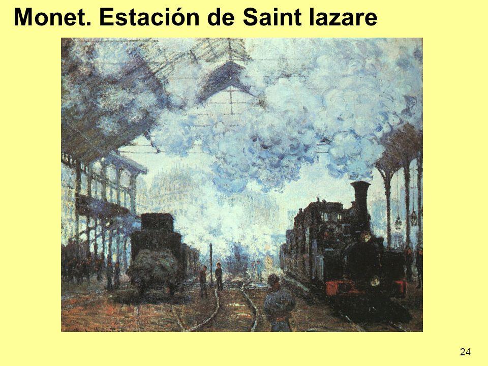 24 Monet. Estación de Saint lazare