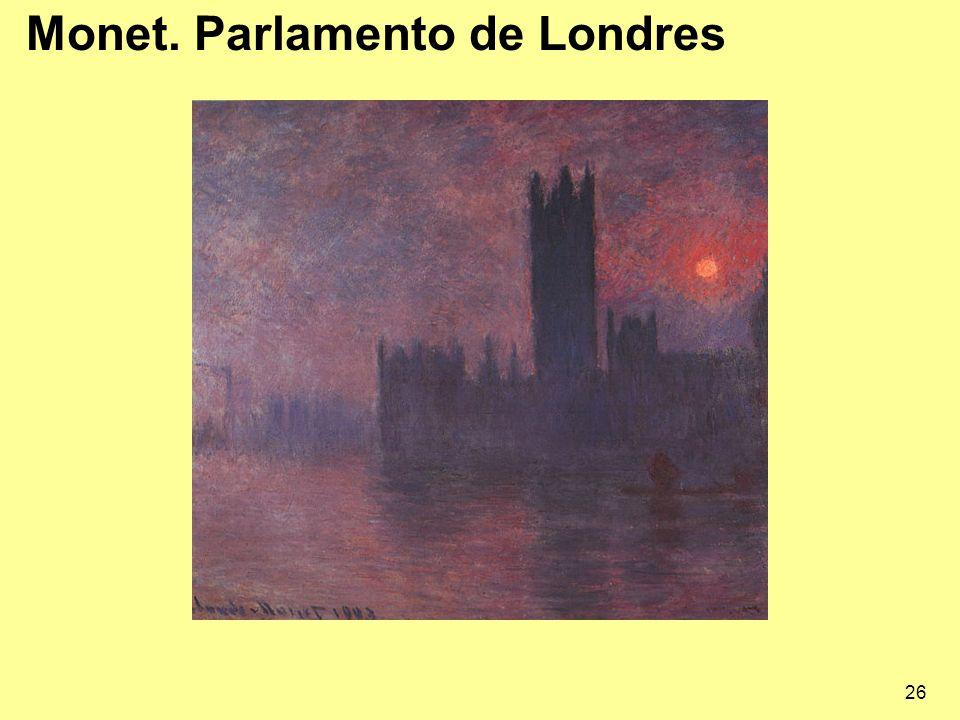 26 Monet. Parlamento de Londres